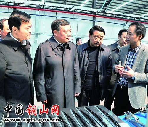 3月6日上午,省委常委,常务副省长李云峰来铜山区调研,市,区领导